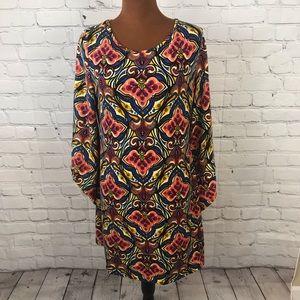 Aryeh Batik Print Dress Size Large